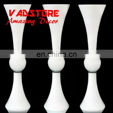 60cm headstand white plated trumpet glass vase wedding table centerpiece flower holder centerpiece