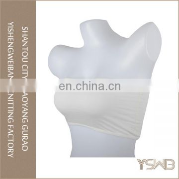 Custom good quality lady spandex elastic white strapless sexy tube bra