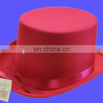 Funny hot pink stain top hat costume hat