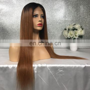 Long Straight Ombre Remy Human Hair Lace Front Wig Cheap Glueless Full Lace Wigs With Baby Hair