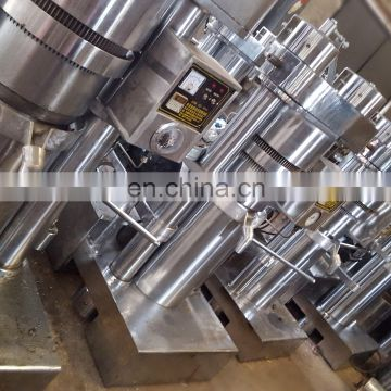 Hydraulic oil processing machine for olive