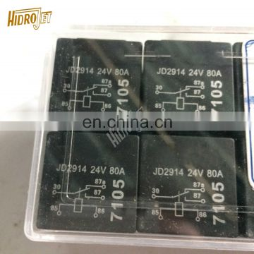 Auto parts black relay 80a 24v  5pin JD2914  waterproof car relay for sale