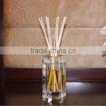 name brand scents 150ml Luxury high quality square crystal glass decorative reed difuser