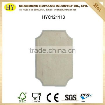Unfinished decorative wood cutting board wholesale
