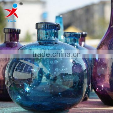 Manufacturers wholesale hand made glass vase art creative bubbles Hydroponic plant water bottle of flower arranging furnishing a