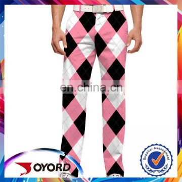 Professional sublimation golf pants printing for man