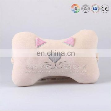 High quality soft bone shaped car head rest neck pillow