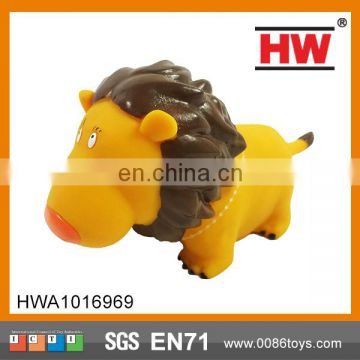 High Quality 8 Inches Evade Glue Cartoon Lion Small Plastic Lion Toys