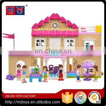 Funny series educational toys for kids building block set fashion house
