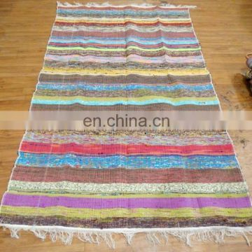 Chindi Recycled Cotton Rag Rug Handmade Floor Runner Hand Woven