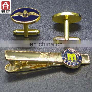 2017 brass sport medallion wholesale plain gold tie clip
