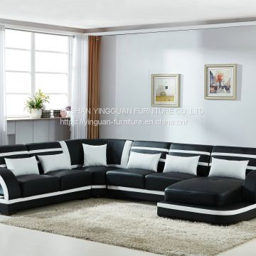 with blue tooth speaker U shape leahter sofa set