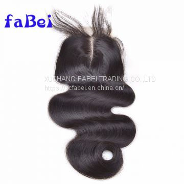 Dark brown hair piece brazilian front lace closure,brazilian hair closure with bundles,silk grey hair top closure human
