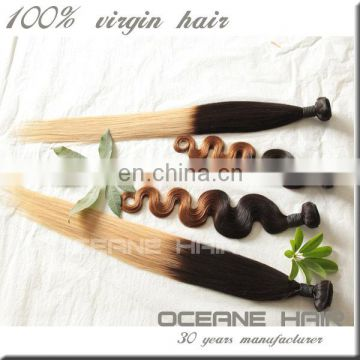 Brazilian straight hair dropshipping factory wholesale sew in human hair weave ombre hair