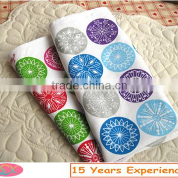 Wholesale hotel/party/wedding restaurant table cloth napkins cotton printing table napkin