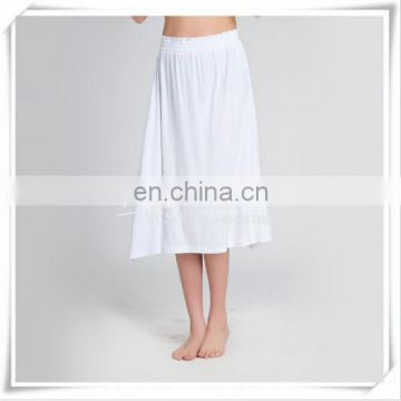 Ladies' Bamboo Knee Length Knitting Silky Soft Skirt Green Material New Tech.