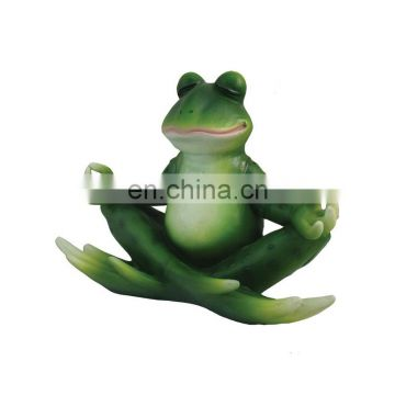 cute yoga frog figure