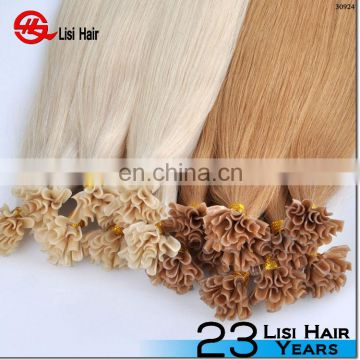 100% brazilian human hair extensions blonde color prebonded itip/utip/vtip/nano tip and flat tip hair products