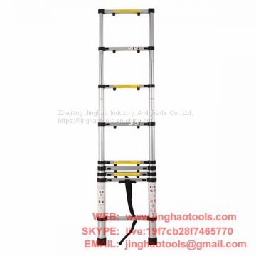 2.6m Aluminum Telescopic Ladder With Finger Gap