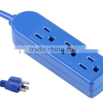 S30167 3 outlet extension cord with blue color