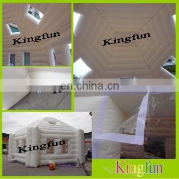 White square inflatable tent for wedding
