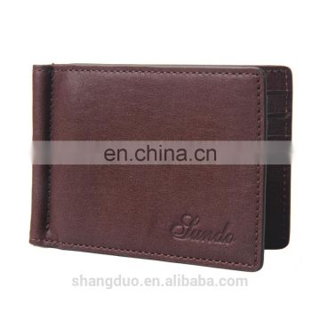 Latest Design Great Quality custom metal leather money clip wallet wholesale