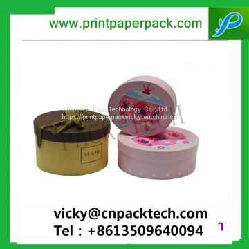 Cylinder Shape Colorful Handmade Round Paper Box for Flowers Customized Makeup Boxes