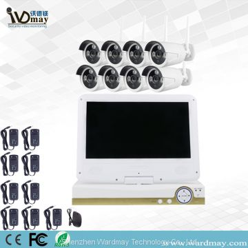 8chs 1.3/2.0MP Home Wireless Security Camera WiFi NVR Alarm System with 10.1 Inch LCD Screen