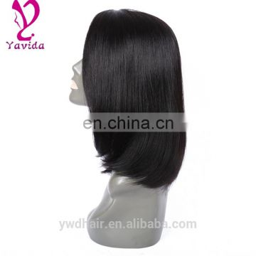 human hair lace front wig 100 brazilian virgin hair full lace wigs Glueless bob style human hair wig