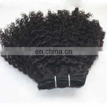 Customized human hair extension most popular tight curly hair clip in extensions