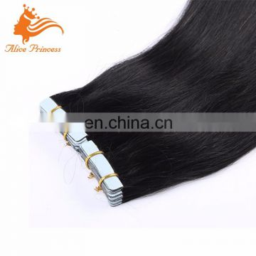 Large Stock Top Quality Virgin Hair remy peruvian hair double drawn tape hair extensions