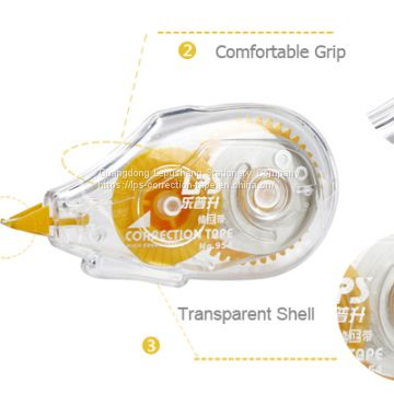 Non-Refillable Yellow Correction Roller with Transparent Dispenser 12m Correction Tape 954