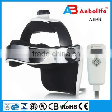 Electric head massager with air pressure and heating,music massager machine,head and eye massager