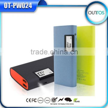 14400mAh High Capacitry Power Bank with LED Flashlight and LCD Digital Display