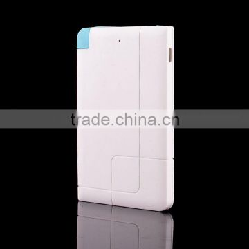 High quality 2500mAh power bank credit card size micro usb battery charger