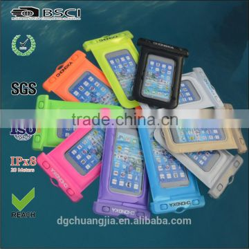 promotional gift waterproof cell phone bag, mobile phone PVC water resist case