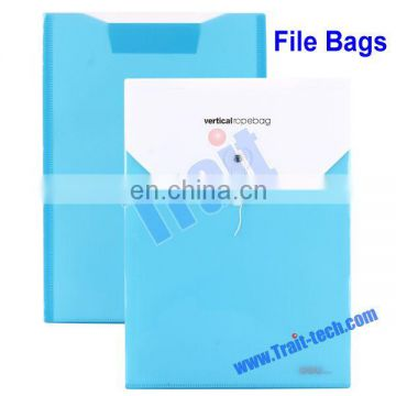 High Quality Blue Simple Carrying 10Pcs/Pack Vertical Rope File Bag