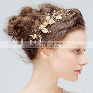 Amelie Wedding Jewelry Accessories Stunning Charm Floral Crystal Wedding Hair Side Comb Bridal Princess Hair Comb for party prom