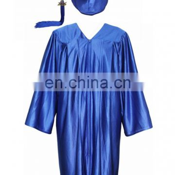 Wholesale High Quality Shiny Graduation Cap and Gown Set for Graduation/High school