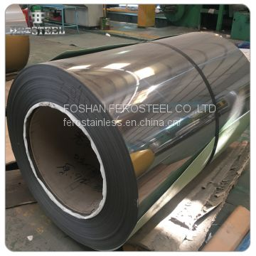 Foshan supplier SS coil mirror finished 304l 316l stainless steel coil