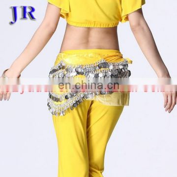 Cheap 400 coins belly dance hip scarf with silver coins Y-2008#