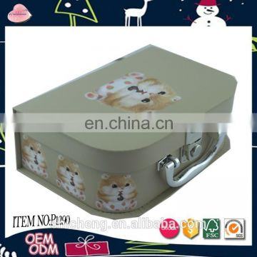 High quality cute cartoon tu suitcase box for children