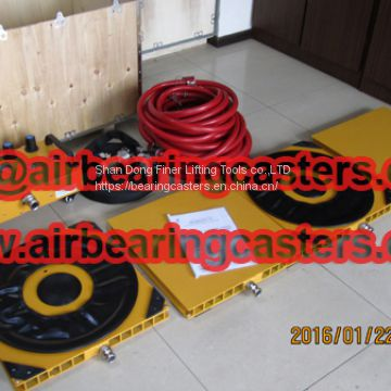 Air Bearings and Casters application and instruction
