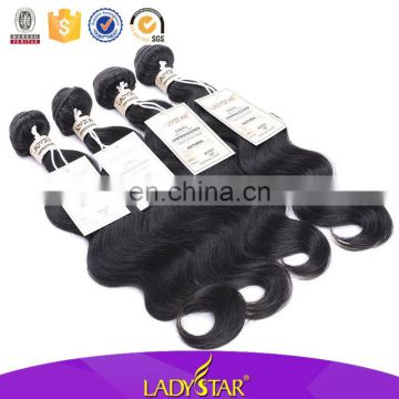 Ladystar Hair Collection Unprocessed Virgin Hair Body Wave 100 Human Hair Weavon