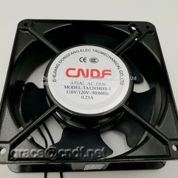 CNDF  made in china factory passed CE test with 2 years warranty 220/240VAC 120x120x38mm TA12038HSL-2