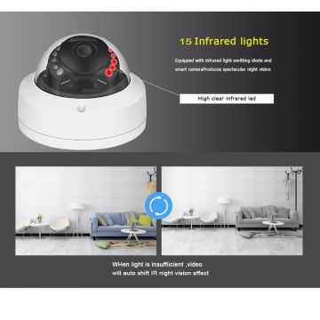 CCTV 5.0 Megapixel Home Security Dome HD IP Surveillance Camera
