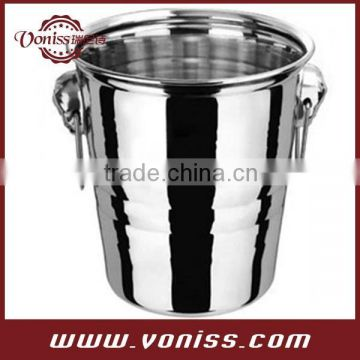 Stainless Steel Champagne Bucket Wine Beer Ice Bucket keep white wine or champagne cold for hours.