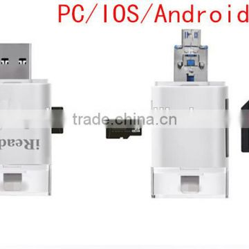 iReader OTG Micro USB 2 0 TF SD Card Reader for iPhone, Protable OTG Audio  Jack Mobile Phone NFC Magnetic Card Reader