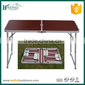 Outdoor adjustable height folding table and chairs for picnic, party, camping