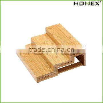 Bamboo Expandable Spice Rack Spice Shelf Organizer Homex-BSCI Factory